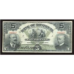 Bank of Montreal $5, 1904