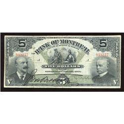 Bank of Montreal $5, 1904