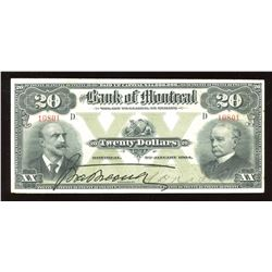 Bank of Montreal $20, 1904
