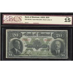 Bank of Montreal $20, 1923