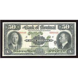 Bank of Montreal $50, 1931
