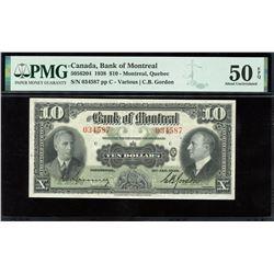 Bank of Montreal $10, 1938