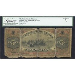 Union Bank of Canada $5, 1903