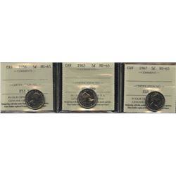 ICCS Graded Lot of Five Cents