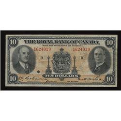 Royal Bank of Canada $10, 1935