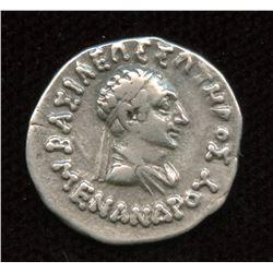 BAKTRIA, Indo-Greek Kingdom. Menander I. ca. 165/55-130 B.C. AR Drachm