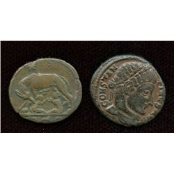 Roman Imperial - Constantine Era Pair. Lot of 2