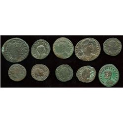 Roman Imperial - 4th Century AE Group. Lot of 10