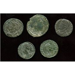 Roman Imperial - 2nd Half of 4th Century AE Group - Lot of 5
