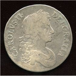 England Charles II (1660 - 1685). 1672 Crown