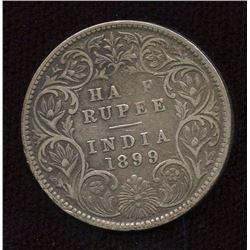 British India 1/2 Rupee, 1899