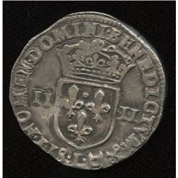 World Coins - France 1/4 Ecu 1605