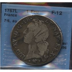 World Coins - France 1 Ecu 1767L