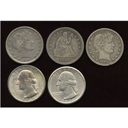 USA Quarters - Lot of 5