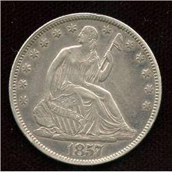 USA 1857 Liberty Seated Half Dollar