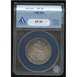 1858 USA Half Dollar