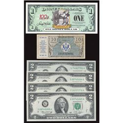 USA Potpourri of Coins, banknotes, related