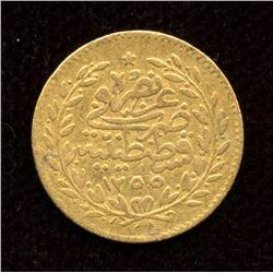Turkey Gold 25 Kurush, 1839 (277AH)