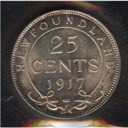 1917C Newfoundland Twenty-Five Cents