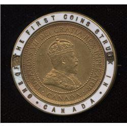 1908 Canada Large Cent Enameled Encased