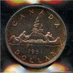 1951 Silver Dollar - Proof Like