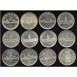 Canadian Silver Dollar - Lot of 12