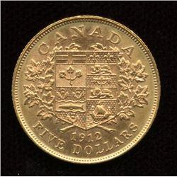 1912 Canada $5 Gold