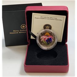 2013 Purple Coneflower & Eastern Tailed Blue $20 Fine Silver $20 Coin