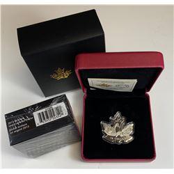 2013 Uncirculated Silver Dollar & 2016 Maple Leaf Silhouette $10