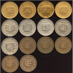 Philatelic Society of Canada Lot of 14 Engraved Medals