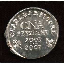 CNA Charles Moore President 2003-2007 Pure Silver Medal
