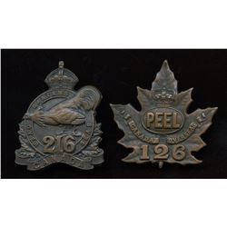 WW1 - Pair of CEF Cap Badges