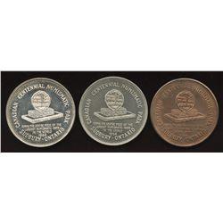 Set of three 1964 Sudbury Numismatic Park Medals