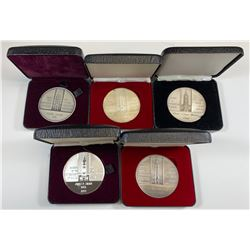 Government of Canada Long and Efficient Service Silver Medals - Lot of 5 Different