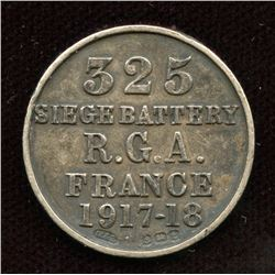66th Brigade 325 Siege 1917-18 Enameled Token