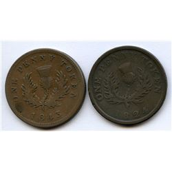 Br. 868, 873.  A pair of thistle pennies.