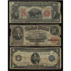 United States Large Size Note Lot