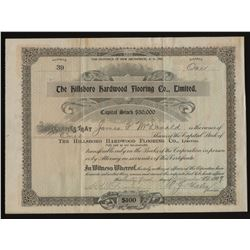 Hillsboro Hardwood Flooring Co. Ltd. Share Certificate