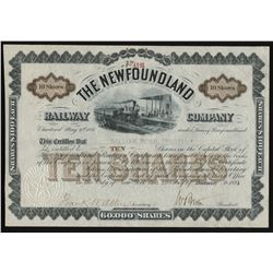 The Newfoundland Railway Company Share Certificate