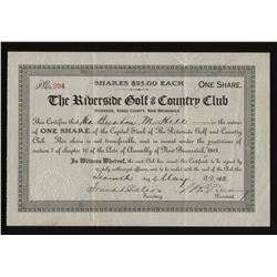 The Riverside Golf & Country Club Share Certificate