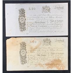 Edinburgh Scotland - Nova Scotia Warrants - Lot of 2