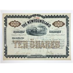 Newfoundland Railway Co. Stock Certificate