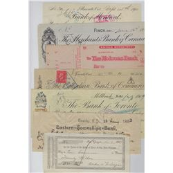 CHEQUES 1867 to 1945 Variety of Different Banks