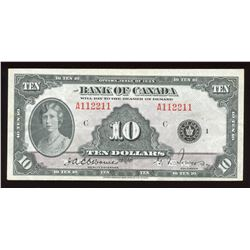 Bank of Canada $10, 1935 - 2 Digit Radar