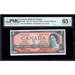 Bank of Canada $2, 1954 Transition Prefix
