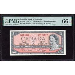 Bank of Canada $2, 1954 - Radar Note