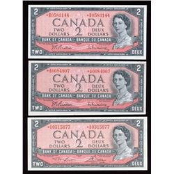 Bank of Canada $2, 1954 Replacement - Lot of 3