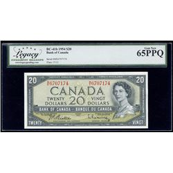 Bank of Canada $20, 1954 - Transitional Prefix