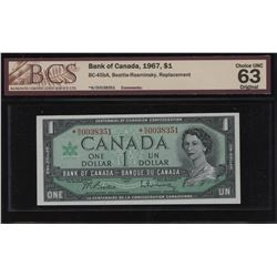 Bank of Canada $1, 1967 *N/O Replacement