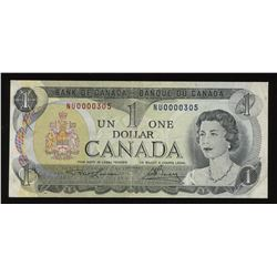 Low Number - 1973 Bank of Canada $1